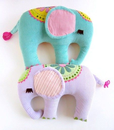 These are so cute and with some extra scraps of fabric you can easily make them!: