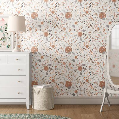 Grovelane Alexis Removable Bohemian Flower 4 17 L X 25 W Peel And Stick Wallpaper Roll Peel And Stick Wallpaper Wallpaper Roll Bohemian Flowers