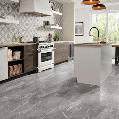 grey marble tile floor