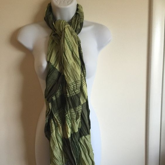 Brand new dressy green pashmina scarf. Works for All seasons. firm unless bundled. Please no trades, modeling or other forms of payment. Thank you for understanding.  Accessories Scarves & Wraps