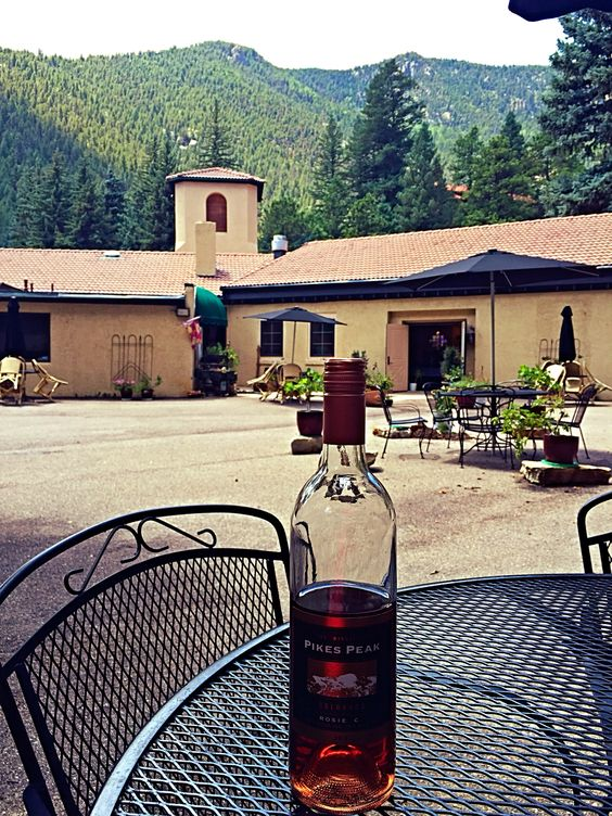 Colorado wine with a mountain view!