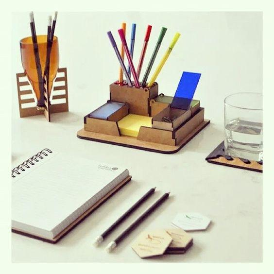 Productos ecol gicos para oficina lapicera de vidrio - Organizador escritorio ...