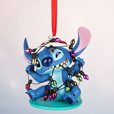 [Mele Kalikimaka]Santa Stitch is all tangled-up in a string of shiny tree-trimming delights for this out-of-this-world Sketchbook Ornament wrapped in merriment and mischief!