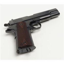 """Colt Commercial Government Model 1911 semi-auto pistol, .45 cal., 5"""" barrel, blue finish, checkere"""