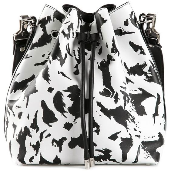 Proenza Schouler large bucket shoulder bag featuring polyvore, fashion, bags, handbags, shoulder bags, leather handbags, real leather handbags, genuine leather handbags, white purse and real leather purses