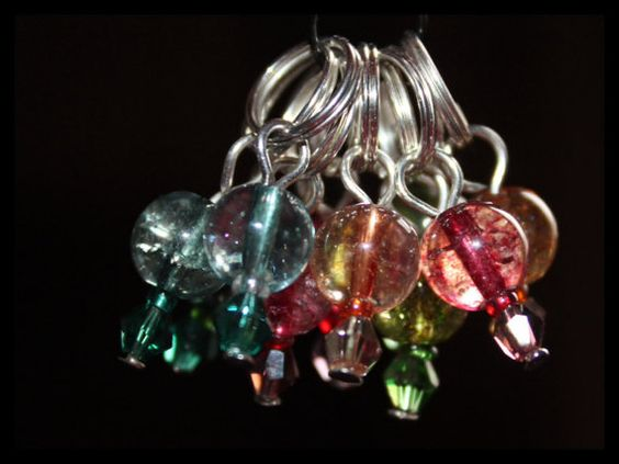 Tourmaline stitch markers by Planetofhandmade on Etsy, $10.00