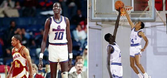 Manute Bol - Michael Jordan - Grant Hill - Washington Bullets