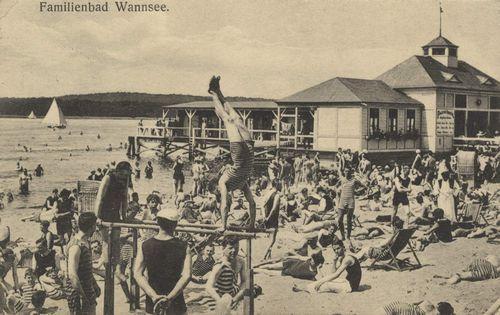 Berlin, Zehlendorf, Berlin: Wannsee, Familienbad ca 1912