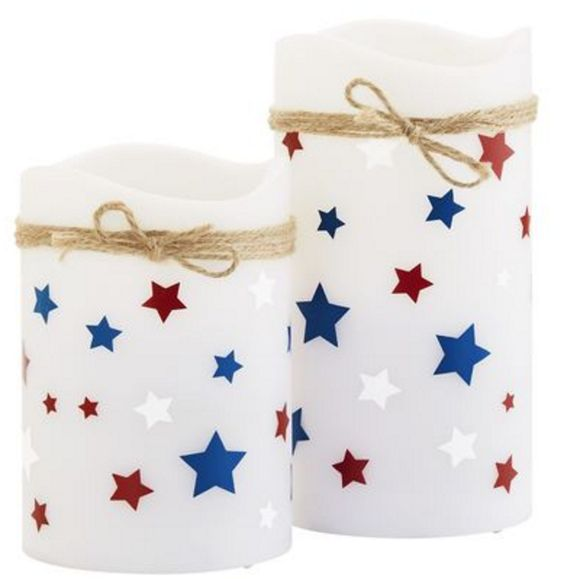 Americana LED Pillar Candles