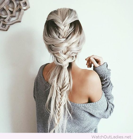 Braid Styles For White Hair Impressive Braids And White Hair Color …  Pinteres…