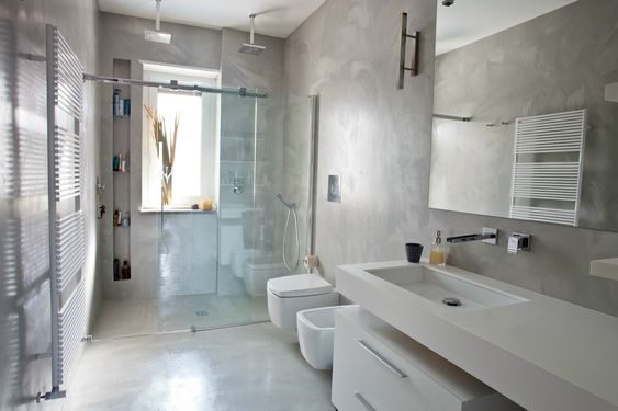 Bagno pavimento e pareti in resina moodboard home - Resina pareti bagno ...