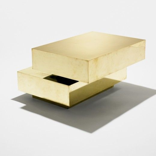 // gabriella crespi, coffee table, italy, 1970
