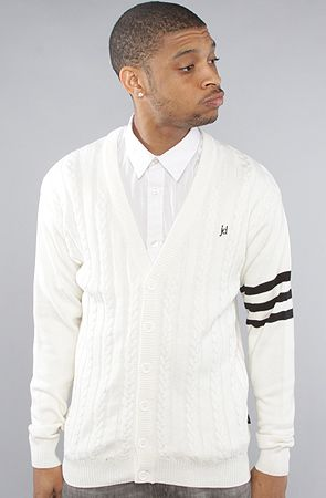The Varsity 3 Striped Cardigan by Jed Clothing
