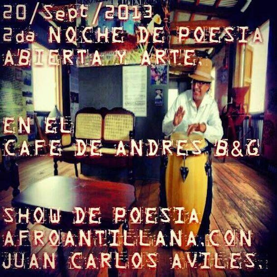 Noche de Poesía Abierta y Arte @ Café de Andrés Bar & Grill, Camuy #sondeaquipr #nochepoesia #cafedeandres #camuy
