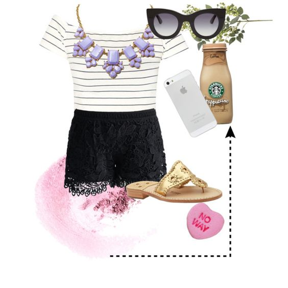 coffee and fun by alana-t on Polyvore featuring polyvore, fashion, style, Chicwish, Jack Rogers, Kate Spade, Thierry Lasry, NARS Cosmetics and Pier 1 Imports