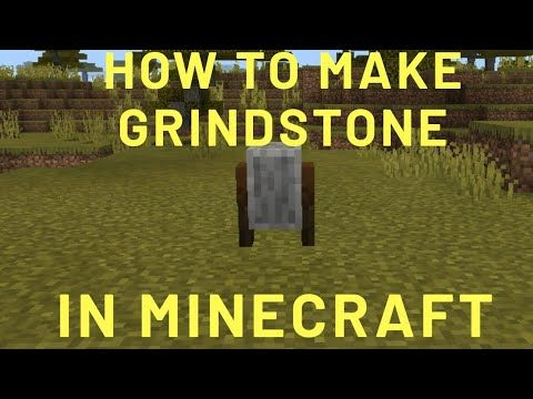 How To Make A Grindstone In Minecraft