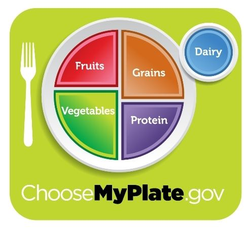 We all know that what we eat matters - MyPlate offers a visual reminder to make healthy food choices when you choose your next meal. MyPlate can help prioritize food choices by reminding us to make half of our plate fruits and vegetables and shows us the other important food groups for a well-balanced meal: whole grains, lean proteins, and low fat dairy.