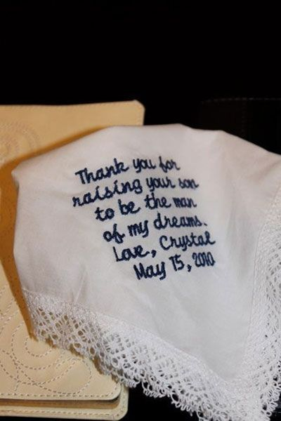 mother-in-law will love this handkerchief!