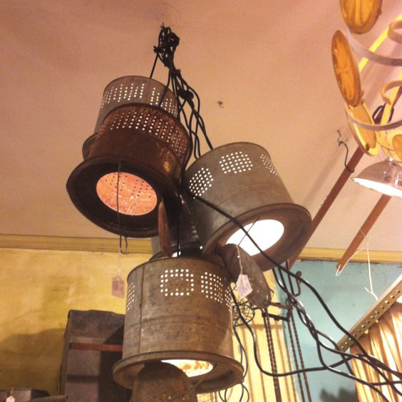 Rustic Copper Pail Pendant Light By Cre8iveconcrete On Etsy: Good Idea For Some Old Minnow Buckets..lighting. My Mom