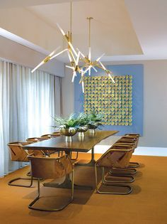Modern dining room | contemporary ceiling light | www.bocadolobo.com #diningroomdecorideas #moderndiningrooms