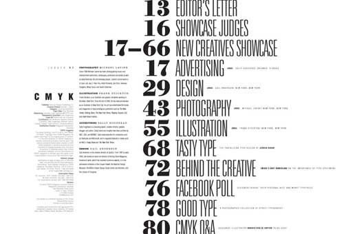 table of contents for design magazine | Creative ...
