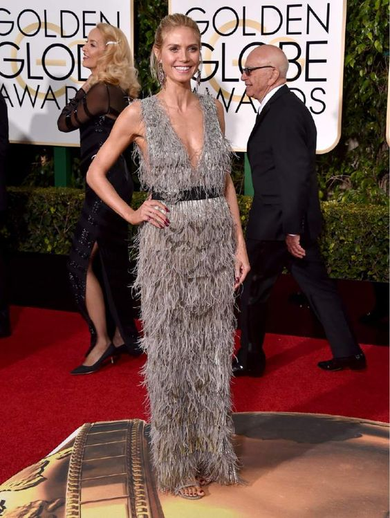 Heidi Klum arrives at the 73rd annual Golden Globe Awards on Sunday, Jan. 10, 2016, at the Beverly Hilton Hotel in Beverly Hills, Calif. (Photo by Jordan Strauss/Invision/AP):