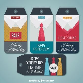 Conjunto de etiquetas del día del padre