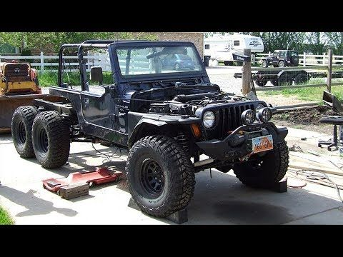 Jeep Wrangler Tj 6x6 Off Road Truck Build Project Youtube 6x6