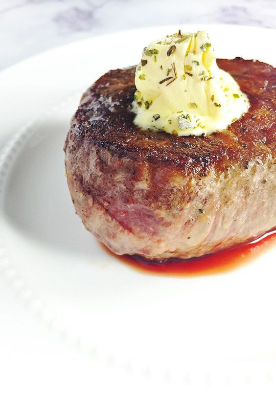 NEVER Grill steak again! Pan-seared filet mignon with garlic & herb butter recipe