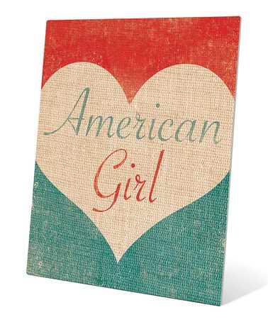 Another great find on #zulily! 'American Girl' Wall Art #zulilyfinds