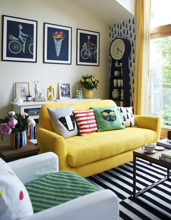 Will Taylor brings his passion to colour to every room - we love the splashes of yellow here.