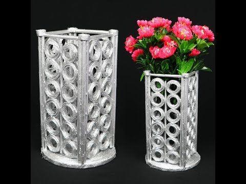 Cara Membuat Vas Bunga Dengan Menggunakan Koran Bekas Youtube