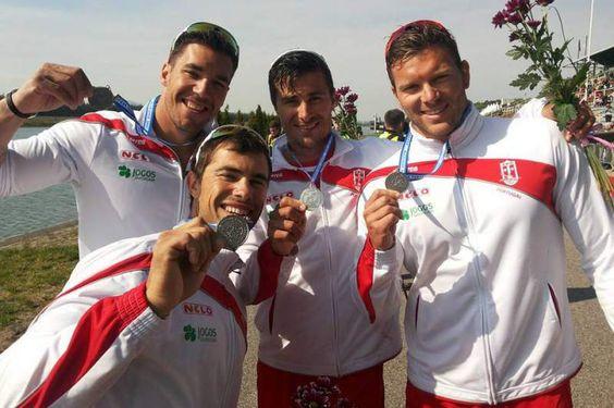 Portugal Vice-Campeão da Europa em Canoagem K4 1.000