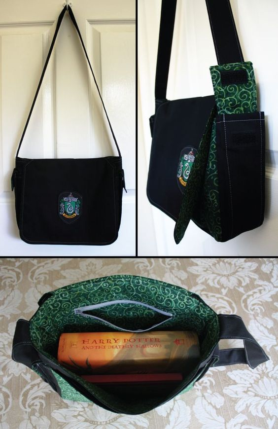 Sonserina bolsa / Harry Potter tema/acessórios |  Harry Potter theme / Harry Potter acessories / Slytherin Bag