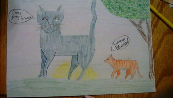 This is Firepaw and Bluestar