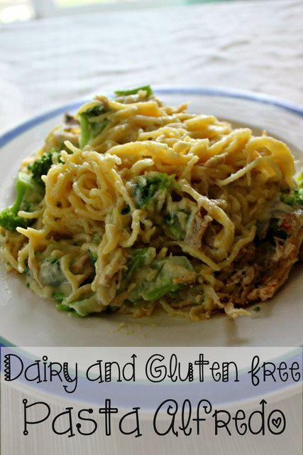 Dairy and Gluten Free Pasta Alfredo