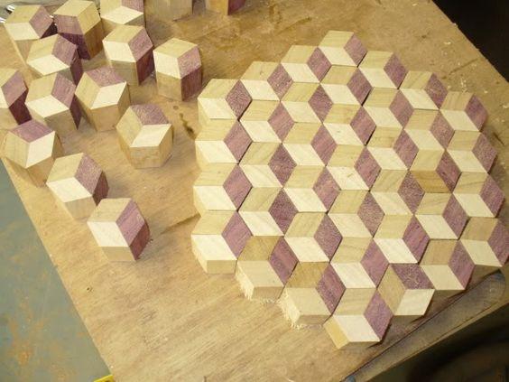 Laminboard Board Block ~ How to make a endgrain tumbling block butcher board