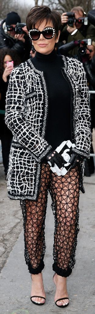Kris Jenner Took a Liking to the Sheer Pants Trend at the Chanel Show