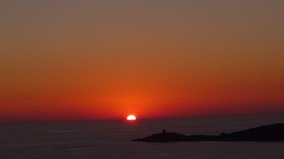Cargèse, coucher du soleil