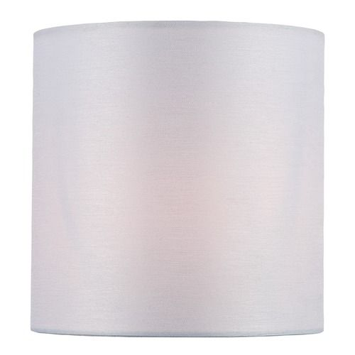 White Cylindrical Lamp Shade with Clip-on Assembly | CH5250-5 | Destination Lighting