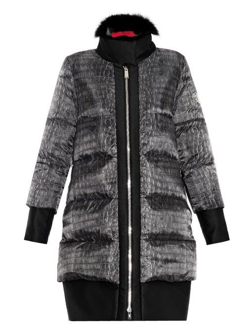 Moncler Gamme Rouge Janis fur-trimmed quilted down coat