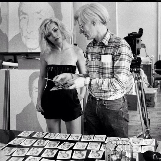 Debbie Harry and Andy Warhol