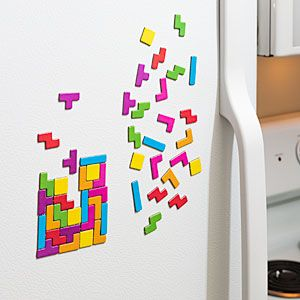 Maybe the Magnetic Poetry never got you, but Magnetic Tetris? Geek-it-up!