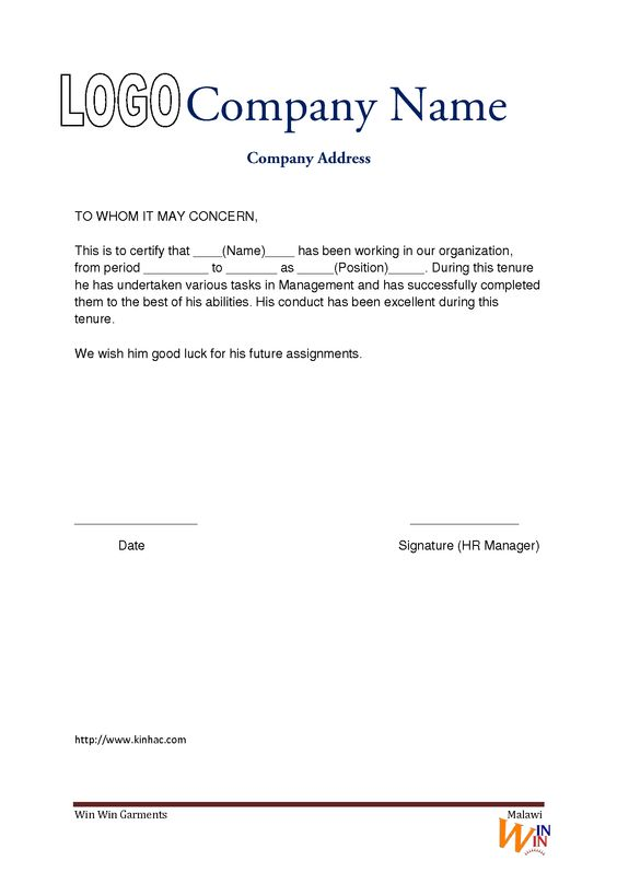 All Resumes 187 Format Of Experience Letter Free Resume