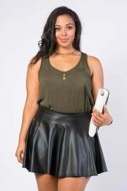 Shop Plus Size Pencil, Mini, Flared & Maxi Skirts − G-Stage