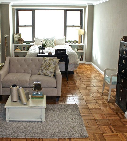 Before after samna transforms a studio in 5 days love for Studio apartment decorating ideas on a budget