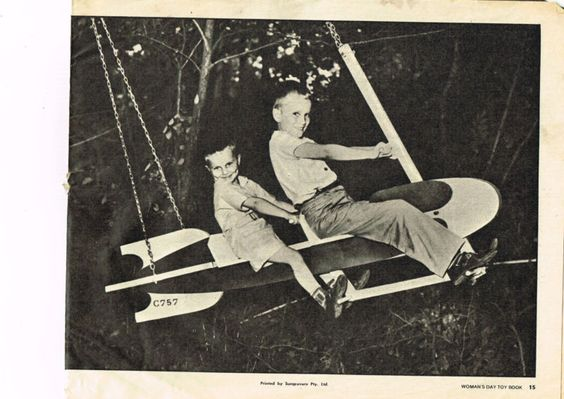 Awesome rocket swing (vintage instructions found on eBay)