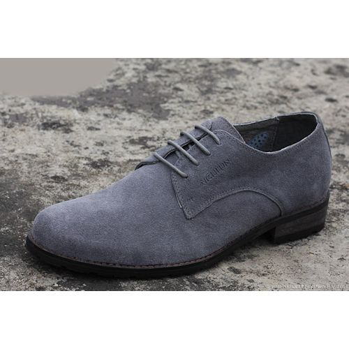 Mens Ferro Aldo Gray Faux Suede Wingtip Oxford Lace Up Dress Shoes ...
