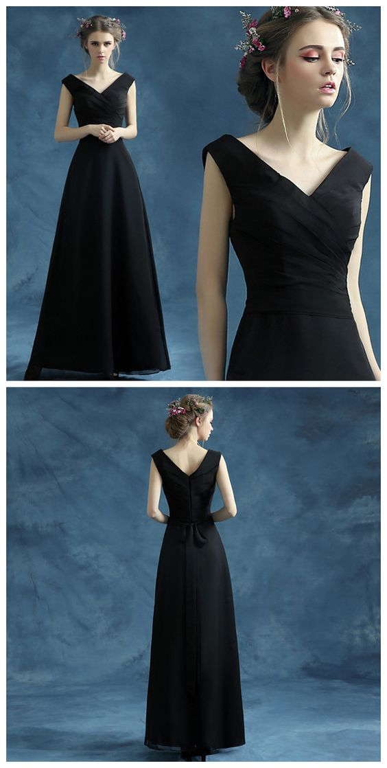 long prom dress, BLACK prom dress, party prom