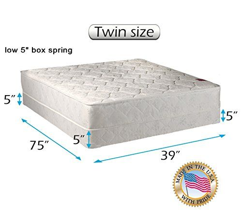 Legacy None Flip One Sided Twin Mattress And Low Profile Box